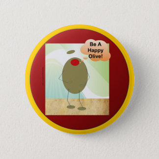 The Happy Olive 2 Inch Round Button