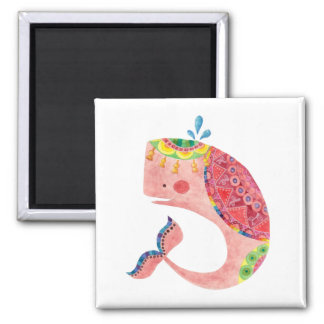 The Happy Pink Whale Magnet
