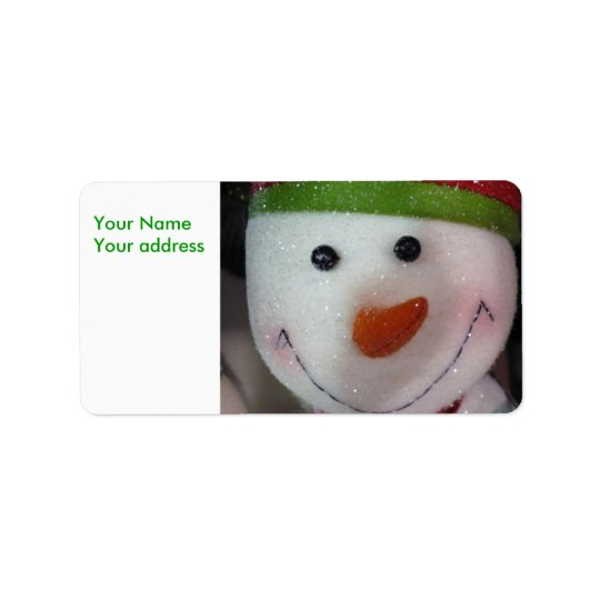 The Happy Snowman, Your NameYour address