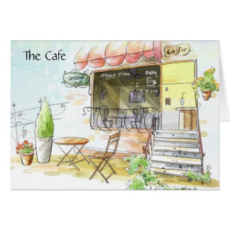 The Happy Time Cafe Note Cards