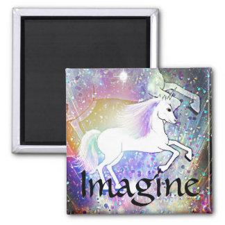 The Happy Unicorn Magnet