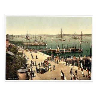 The harbor, III., Kiel, Schleswig-Holstein, German Postcard