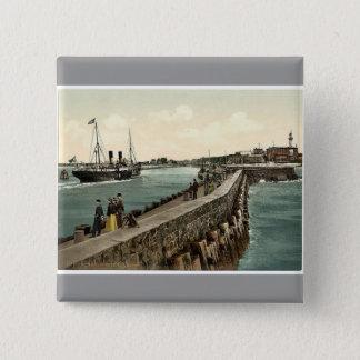 The harbor, Warnemunde, Rostock,Mecklenburg-Schwer 2 Inch Square Button