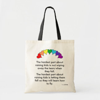 The hardest part about raising kids tote bag
