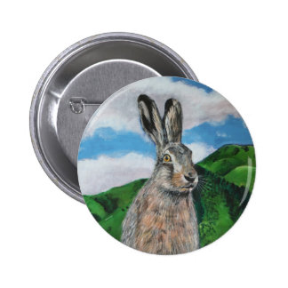 The Hare 2 Inch Round Button