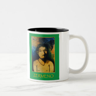 """The Harlequin Boy"" Two-Tone Coffee Mug"