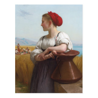 The Harvester by Bouguereau Postcard