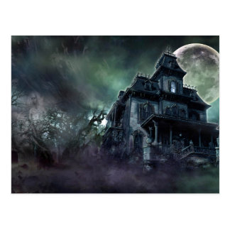 The Haunted House Paranormal Postcard