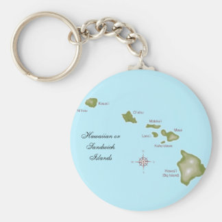 The Hawaiian Islands Basic Round Button Keychain
