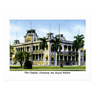 The Hawaiin Capitol, Formerly the Royal Palace Postcard