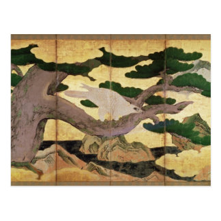 The Hawks in the Pines, 6 panel folding screen Postcard