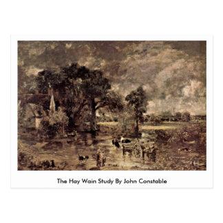 The Hay Wain Study By John Constable Postcard