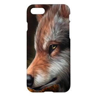 The head of a wolf painting. iPhone 8/7 case