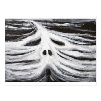 The Head of Leviathan (black and white surrealism) Postcard