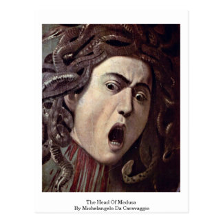 The Head Of Medusa By Michelangelo Da Caravaggio Postcard