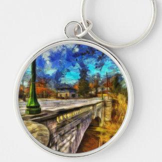 The Headless Horseman Bridge Art Keychain