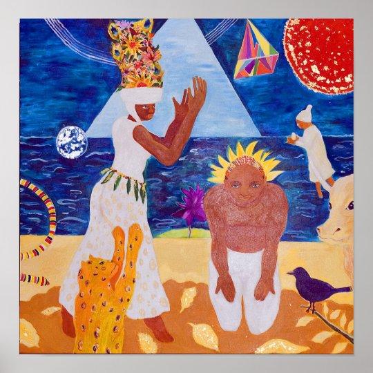The Healers - orignal print by Vivian Ara
