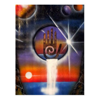 The Healing Hand of the Universe Postcard