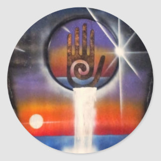 The Healing Hand of the Universe Round Sticker