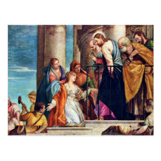 The Healing Of Blutfüssigen By Veronese Paolo Postcard