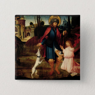 The Healing of Saint Roch 2 Inch Square Button
