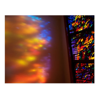 The Healing Window Stained Glass Church Postcard