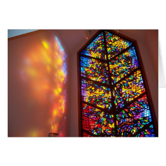 The Healing Window stained glass church prayer roo Card