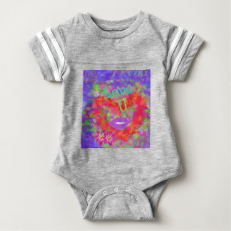 The heart also speaks of love baby bodysuit