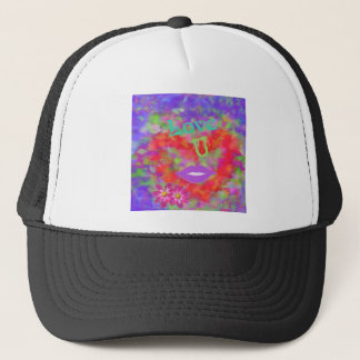 The heart also speaks of love trucker hat