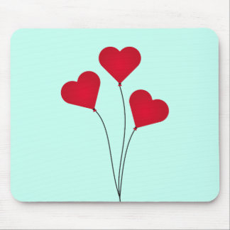 The Heart Balloons Mouse Pad