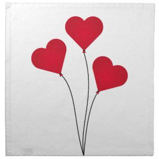 The Heart Balloons Napkin