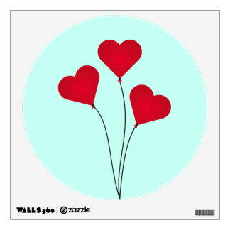 The Heart Balloons Wall Sticker