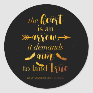 The Heart Is An Arrow Classic Round Sticker