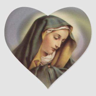 The Heart of Blessed Virgin Mary Heart Sticker
