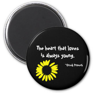 "The heart that loves..."" magnet"