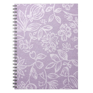 The Heather on the Hill Lavender Patterned Notebook