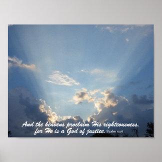 The Heavans Declare God's Glory Poster