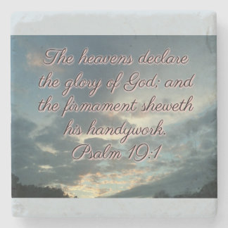 The Heavens Declare His Glory Stone Coaster