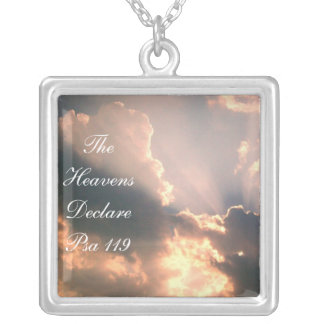 The Heavens Declare Psa 119 Silver Plated Necklace