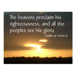 The heavens declare | Psalm 97 v 6 Postcard