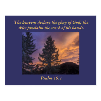 The heavens declare the glory of God;... Postcard