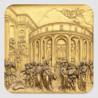 The Heaven's Gate - Baptistery Florence - Italy Square Sticker