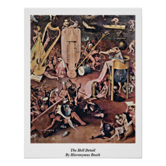 The Hell Detail By Hieronymus Bosch Poster