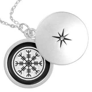 The Helm Of Awe Silver Plated Necklace