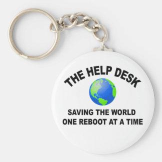 The Help Desk - Saving The World Basic Round Button Keychain