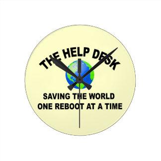 The Help Desk - Saving The World Clock
