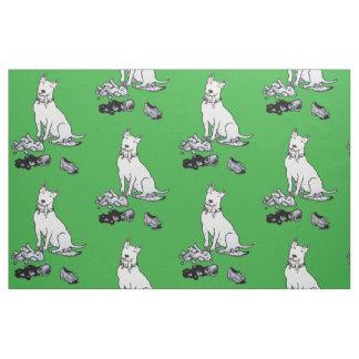 The Helpful Bull Terrier Fabric