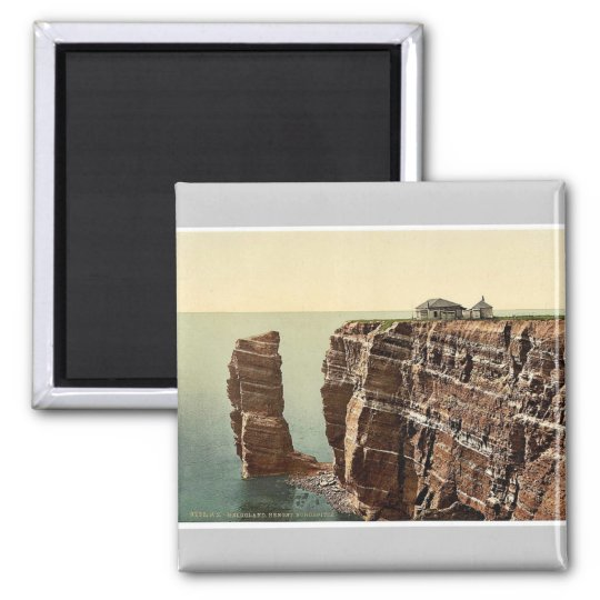 The Hengst, North Point, Helgoland, Germany classi Square Magnet