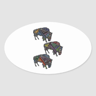 THE HERDS MOVEMENT OVAL STICKER