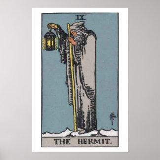 The Hermit Tarot Card Poster